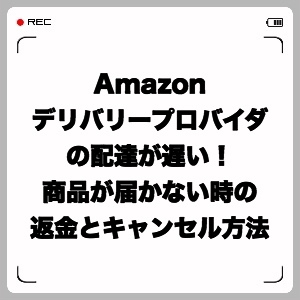 Amazon ADPが遅い!商品が届かない時の返金とキャンセル方法