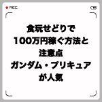 食玩せどりで100万円稼ぐ方法と注意点・ガンダム・プリキュアが人気