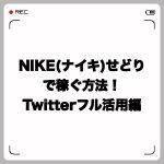 NIKE(ナイキ)せどりで稼ぐ方法!Twitterフル活用編