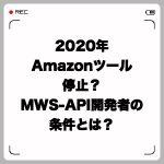 2020年Amazonツール停止問題?MWS-API開発者に課せられた条件を解説します