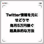 Twitter情報を元にせどりで毎月5万円稼ぐ超具体的な方法