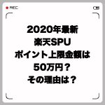 2020年最新・楽天SPUポイント上限金額は50万円?その理由は?